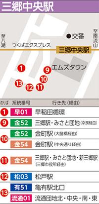 駅 表 三郷 時刻